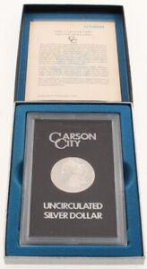 1884-CC Morgan Silver Dollar Carson City Display - Un-Circulated USA ~U.S Mint~
