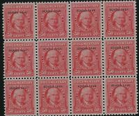 US Stamps - Scott # R371 - 50c Documentary, Series 1943 Block of 12 MNH  (D-175)