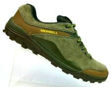 Merrell Fraxion Olive Suede Leather Hiking Trail Shoes J35527 Men's US 14 EUR 49
