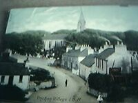 postcard used 1905 onchan village isle of man wear to top of card