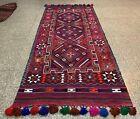 Hand Knotted Vintage Afghan Balouchi Gilam Kilim Kilm Area Runner 11 x 5 Ft