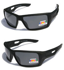 Mens oversized Sunglasses matte black rubberized Polarized Motor-cycle sports