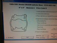 Honda CR250R  Cylinder Base Gasket 1989 1990 1991 12191-KS7-700