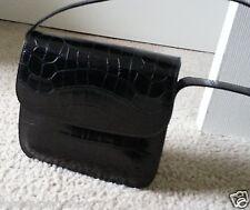 "GIORGIO ARMANI...Black ""COLLEZIONI"" Leather...Strap Bag,Handbag,Shoulder bag"