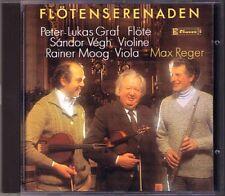 Max REGER 2 Flute Serenade Peter-Lukas GRAF Sandor VEGH Rainer MOOG CD Claves