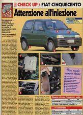 Z85 Ritaglio Clipping 1994 Check-up usato Fiat Cinquecento 500
