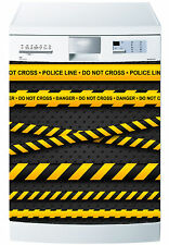 Sticker dishwasher deco kitchen appliances Police danger ref 612 60x60cm