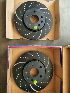EBC® - Stage 10 Super Sport Dimpled and Slotted Brake Rotors (Front and Rear)