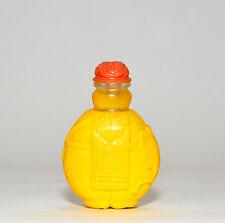 Fine Vintage Chinese Qing Style Elephant Shape Yellow Peking Glass Snuff Bottle