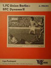 BFC Dynamo II Programm 1984//85 Union Berlin