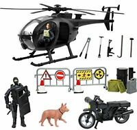 Click N' Play Military SWAT Elite Unit Rescue Helicopter 26 Piece Play Set with