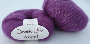 225 g  Angel Debbie Bliss Fb. 15017 Beere 76% Mohair 24% Seide