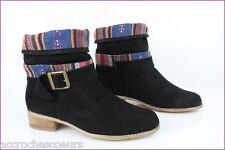Bottines Boots E-YOU Daim Noir T 39 TBE