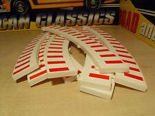 8x Clásico Scx/Scalextric Blanco y Rojo 'fronteras exterior 8x-totalmente Nuevo.