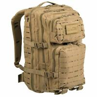 Mil-Tec Large Laser MOLLE Military Army Assault Rucksack Pack Daysack 36L Coyote