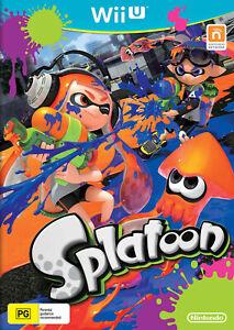 Wiiu Nintendo Splatoon Game Australian Stock Brand New
