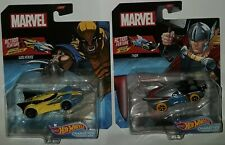 Hot Wheels Wolverine Thor Action Feature set lot mosc new sealed marvel