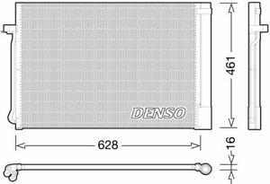 DENSO AIR CON CONDENSER FOR A BMW X3 CLOSED OFF-ROAD VEHICLE 2.0 100KW