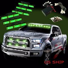 54 LED Car Truck Strobe Emergency Warning Light for Deck Dash Grill Green Green