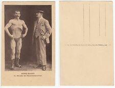 PerroBanno Halb Nackter Mann Muskelmodell Bodybuilder Male semi nude c1915 Gay