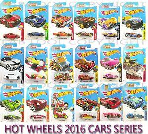 MATTEL HOT WHEELS 2016 SERIES CARS ASSORTMENT