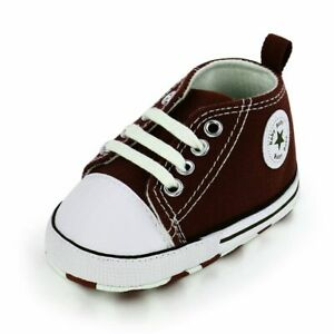 Baby Unisex Shoes Foot Wears Canvas Lace Up Newborn Star Print Walking Sneakers