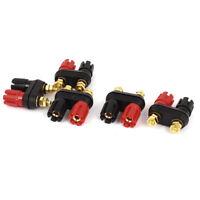 Speaker Amplifier Dual Binding Post Banana Plug Socket Connectors 5pcs WS N3F7