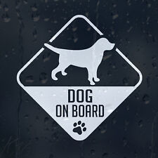 Beagle Dog On Board Car Decal Vinyl Sticker For Bumper Or Window Or Panel