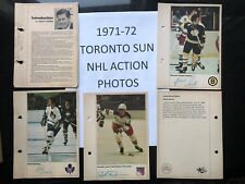 1971-72 TORONTO SUN NHL ACTION PHOTOS $5.99 ea YOU PICK!!