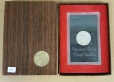 1973 S Uncirculated Eisenhower Proof Silver Dollar OGP - 40% Silver - Brown Ikes