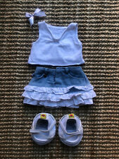 Build A Bear White Top, Skirt And Shoes