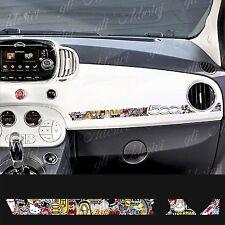 Adesivo Stickers Fiat 500 plancia Abarth Sticker Bomb
