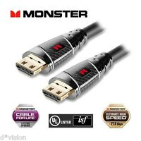 Monster UltraHD 4K HDMI Cable Premium Black Platinum Ultimate High Speed 27Gbps