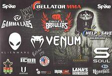 King Mo Lawal Signed Bellator 175 11x17 Banner BAS Beckett COA '17 MMA Autograph