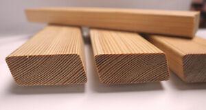Rhombusleisten Rautenleisten sibirische Lärche 27x68 mm 1 m lang Paket 22 Stück