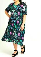 TS TAKING SHAPE VIRTU plus sz M / 20 Spring Blossoms Dress crushed A-line NWT!