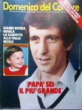 La Domenica del Corriere 16 Maggio 1979 Rota Rivera Milan Stoppa Mastronardi Ufo