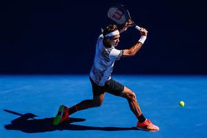 Roger Federer Backhand Poster 24x36 Inches