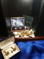 Collectable good quality cufflinks x7 pairs plus tie clips and pins x8