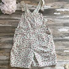 GAP Overalls Vintage 90's Floral Bib One Piece Green Flowers Spring Size Medium