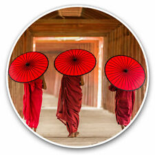 2 x Vinyl Stickers 30cm - Pagoda Myanmar Burma Umbrella Cool Gift #3545