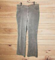 Gloria Vanderbilt Women's Moss Green Corduroy Pants! Slim Boot. Badge. Size 14