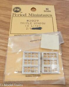Period Miniatures N #2029 TRIPLE WINDOW (8 LITE) 2pcs