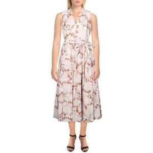 Kate Spade Womens Exotic Bloom Floral Print Burnout V-Neck Midi Dress BHFO 7141