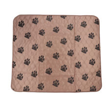 Pet pad Dog Warm Pee Pad Mat Pet Cover Cushion Whelping Pads Brown L