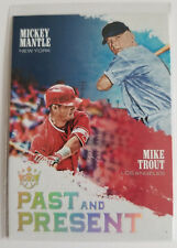 2018 diamondkings mickey mantle,mike trout past and present #pp8