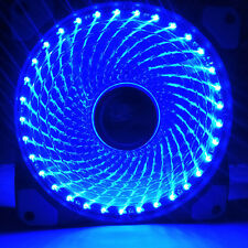 3/4-Pin 120mm PWM PC Computer Case CPU Cooler Cooling Fan with Halo-Color 33 LED