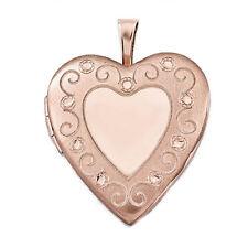 14K Rose Gold over Sterling Silver Heart Locket