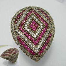 Anelli di lusso con gemme in argento