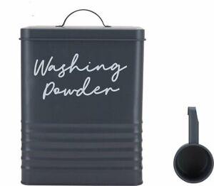 Washing Powder Tin - Grey